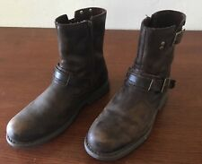 Harley Davidson Motorcycle Boots - Brown - Zip up - Lightly Worn - Size 10M