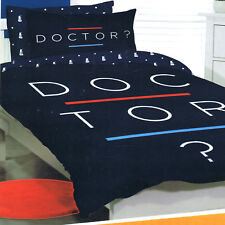 Doctor Dr Who? - Double/US Full Bed Quilt Doona Duvet Cover set