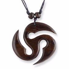 Halskette mit Anhänger Holz Amulett Handarbeit N064