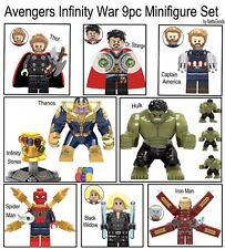 AVENGERS INFINITY WAR Minifigures Building Blocks-Lego Compat-9pc Set FREE SHIPG