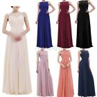 Women Lace Chiffon Formal Party Bridesmaid Dresses Long Evening Prom Ball Gown