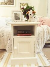 Vintage cream newly painted bedside cabinet Rustic Country style Shabby chic