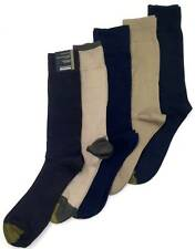 $50 Gold Toe New Men'S 5-Pair Pack Brown Blue Cotton Crew Dress Socks Shoe 6-12