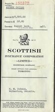 Vintage Insurance Policy- Scottish Insurance Corporation Limited 1955