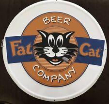 "RARE Fat Cat Beer Company Tin Sign 24"" Diameter"