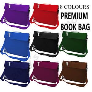 Boys Girls Kids Infant Junior Premium Classic School Book Bag With Strap Holdall