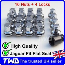 20x WHEEL NUTS + LOCKS - JAGUAR S-TYPE / X-TYPE ALLOY CHROME STUD LUG BOLT -L16b