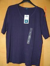 T-Shirt Lucy v. K - Town - Navy - Blau - V-Ausschnitt - Gr. 48 - Neu m. Etikett