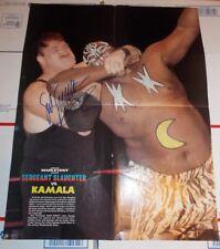 Signed Sgt. Slaughter Magazine 16x20 POSTER Autographed WWF NWA AWA GI JOE