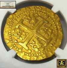 "PERU 8 ESCUDOS GOLD DOUBLOON 1716 NGC 58 ""1715 FLEET"" 4 KN. SHIPWRECK TREASURE"