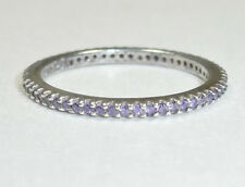 Silpada Purple CZ Stack Ring Size 7 R2995 Remarkable Sterling Silver Stackable