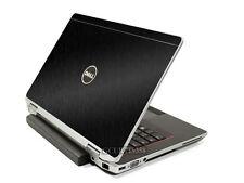 BLACK BRUSHED TEXTURED Vinyl Lid Skin Cover fit Dell Latitude E6220 E6230 Laptop