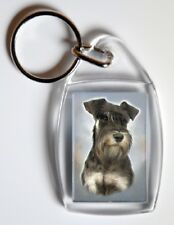 Miniature Schnauzer Dog Key Ring By Starprint - Auto combined postage
