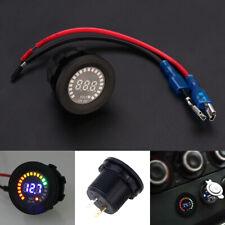 12V-24V Auto Motorrad Bunt LED Digital Voltmeter Wasserdicht Spannungsanzeige