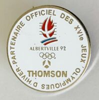 Thomson Albertville 1992 Olympic Partner Pin Badge Vintage Authentic (C12)