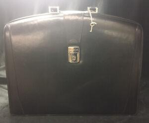 Bosca Black Leather Breifcase Laptop Case