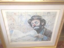 "EMMETT KELLY PENCEL SIGNED LITHOGRAPH ""REMARKED""  AP framed 39x34"