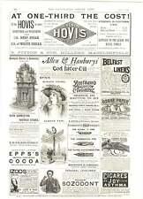1893 Mouson's Frankfurt am Main Cocoa Butter Soap Huggins Chemist Vintage Ad