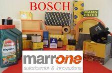 Kit filtri tagliando BOSCH+olio CASTROL FIAT STILO 1.9 JTD 115CV 2001 >01 IN POI