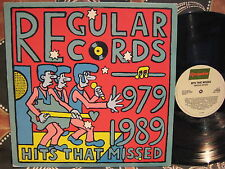 Regular Records 1979-89 Hits That Missed Oz PROMO LP Riptides, Milky Bar Kids +