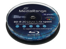 20 MEDIARANGE Blu ray BD-R 25GB 1-4X FULL FACE PRINTABLE cake 10 print mr496