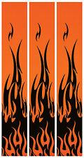 """15 - 6x1"""" Black Flames Fluoro Orange Arrow Wraps"""