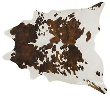 Tricolor Brazilian Cowhide Rug Cow Hide Area Rugs Leather Size LARGE