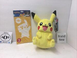 TOMY Pokémon Small Plush Pikachu + Pikachu Car Decal Pikachu White Sticker $.99