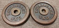 2x 5kg Hantelscheiben Gewichte 30mm Guss Fitnessstudio Royal Beach