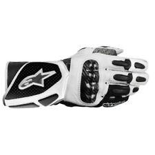 Gants noirs en cuir synthétique pour motocyclette Femme