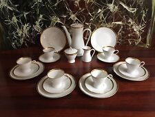 ROSENTHAL Form 2000 weiß mit Goldrand edles Kaffeeservice 21-teilig 6 Personen