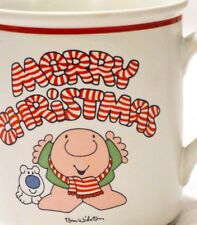 "One of 4 - Ziggy Christmas mug - ""Merry Christmas"" - Vintage Tom Wilson"