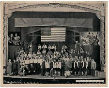 Vintage B&W Photo of 1944 Cast of WLS Chicago Barn Dance