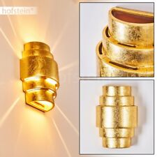 Licht Effekt Wand Lampen Keramik Flur Wohn Schlaf Zimmer Beleuchtung goldfarben
