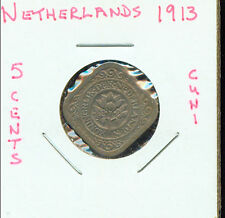 WORLD COINS NETHERLANDS 1913 5 CENTS CH AU (2G696) Great!!