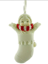 SNOWBABIES Blank Porcelain Stocking Ornament by Department 56