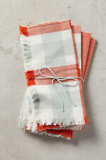 Anthropologie Pehr Designs Gray & Burnt Orange Prep Napkin Set of 4 by Pehr NWT