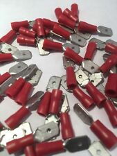 25 PREMIER 1.5 RED MALE SPADE 6.3 CRIMPS TOP QUALITY FOR  LOCOST 7   ~ H4