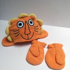 Avon Tiny Tillia Orange Winter Fleece Hat & Mittens 2pcs Set Unisex Kids Toddler