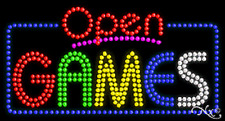 "New ""Open Games"" 32x17 Solid/Animated Led Sign W/Custom Options 25506"