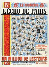 Affiche Originale - L'écho de Paris - Quotidien Français - IIIè République -1895
