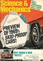 Vintage February 1968 Science & Mechanics Magazine ~ 1969's Skid-Proof Cars!