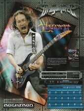 Herman Li Dragonforce Rocktron Prophesy II Preamp ad 8 x 11 advertisement print