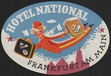 Hotel Koffer Etikett / luggage label - Hotel National Frankfurt a.M. Germany