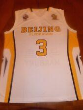 Stephon Marbury Beijing Fly Dragons CBA Basketball Jersey White, Size Large