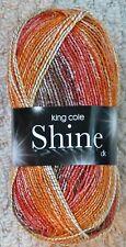 1 X 100g King Cole Shine DK Yarn Shade 141 Volcano
