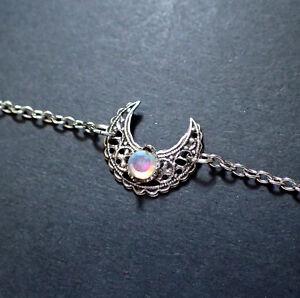 Moon Goddess Silver Crown Circlet Headpiece Headdress Gothic Goth Jewelry Wicca