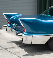 1 1957 Cadillac Eldorado Vintage Car Tailfin Concept Carousel Blue 1959 18 1967