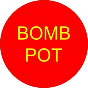 BOMB POT 3 Inch Poker Button USA Seller Free Shipping Double Sided
