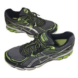 Asics Mens GT-1000 2 Running Shoes Black Green T3R0N Size 10 US